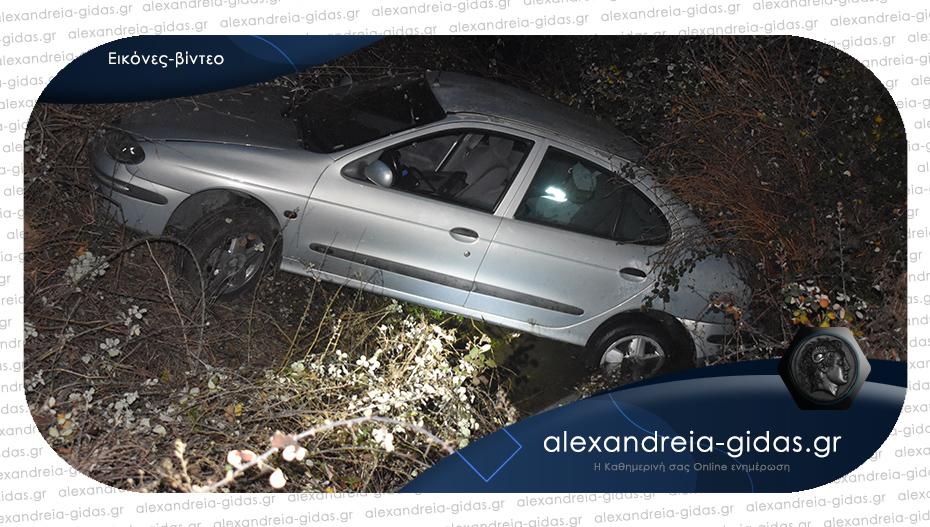 Τροχαίο στο Καλοχώρι Αλεξάνδρειας: Άγιο είχε ο οδηγός που του βγήκε σκύλος στον δρόμο