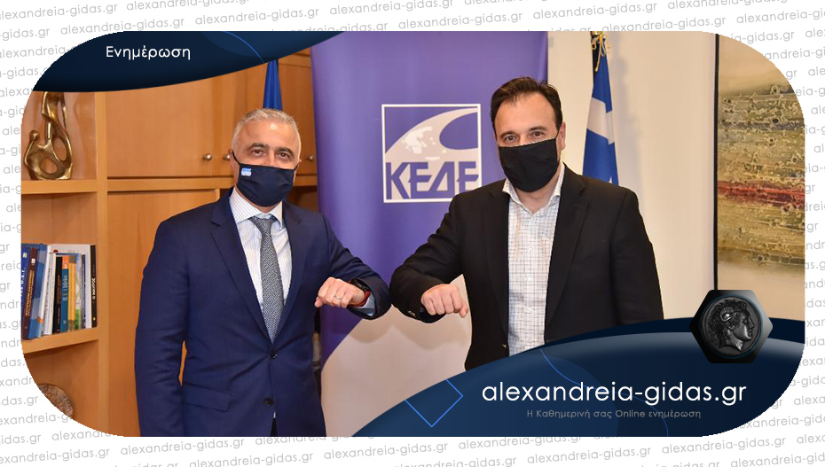 Συνάντηση Τσαβδαρίδη με τον πρόεδρο της ΚΕΔΕ για την τοπική αυτοδιοίκηση