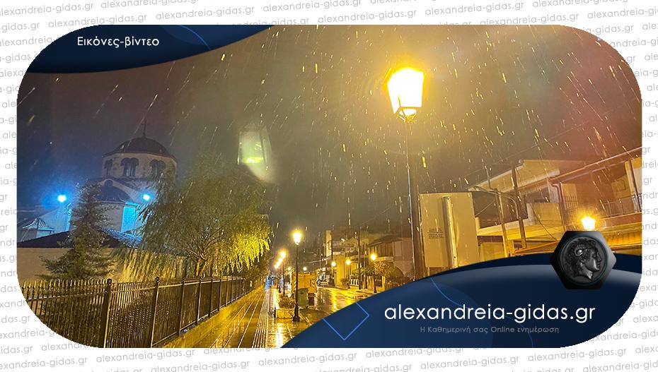 Ήρθαν τα πρώτα χιόνια στην Αλεξάνδρεια – δείτε!