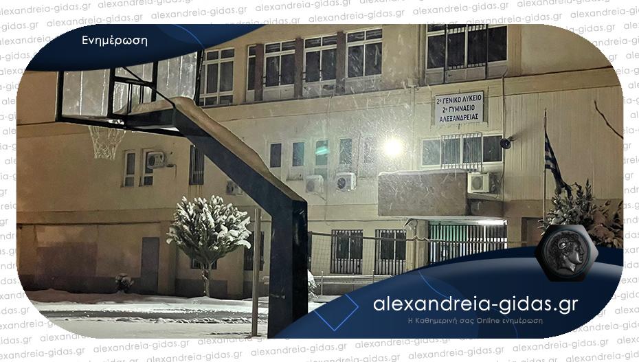 Κλειστά και αύριο Τετάρτη τα σχολεία στον δήμο Αλεξάνδρειας