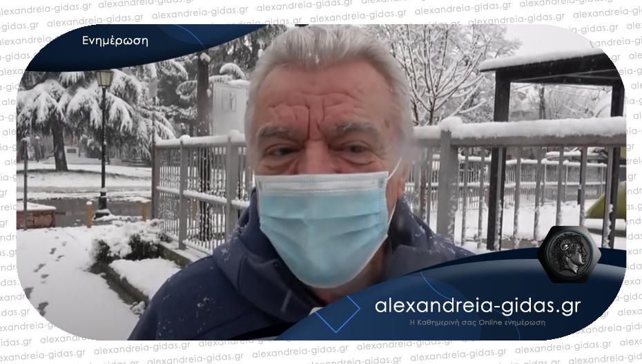 Παναγιώτης Γκυρίνης: «Σε ετοιμότητα ο δήμος Αλεξάνδρειας για τον χιονιά»
