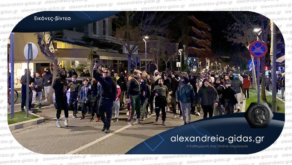 Πορεία κατά των μέτρων και του lockdown στη Βέροια