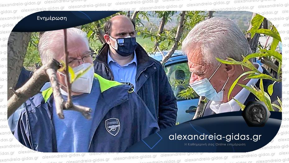 Σε Μελίκη και Κυψέλη ο πρόεδρος του ΕΛΓΑ για τις ζημίες – τα αιτήματα του Παναγιώτη Γκυρίνη