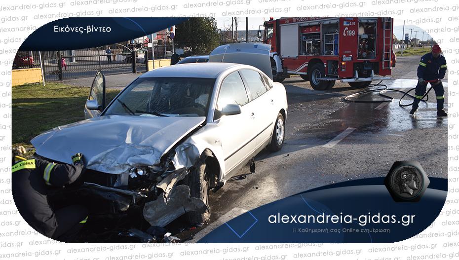 Πριν λίγο: Τροχαίο ατύχημα στην είσοδο της Αλεξάνδρειας