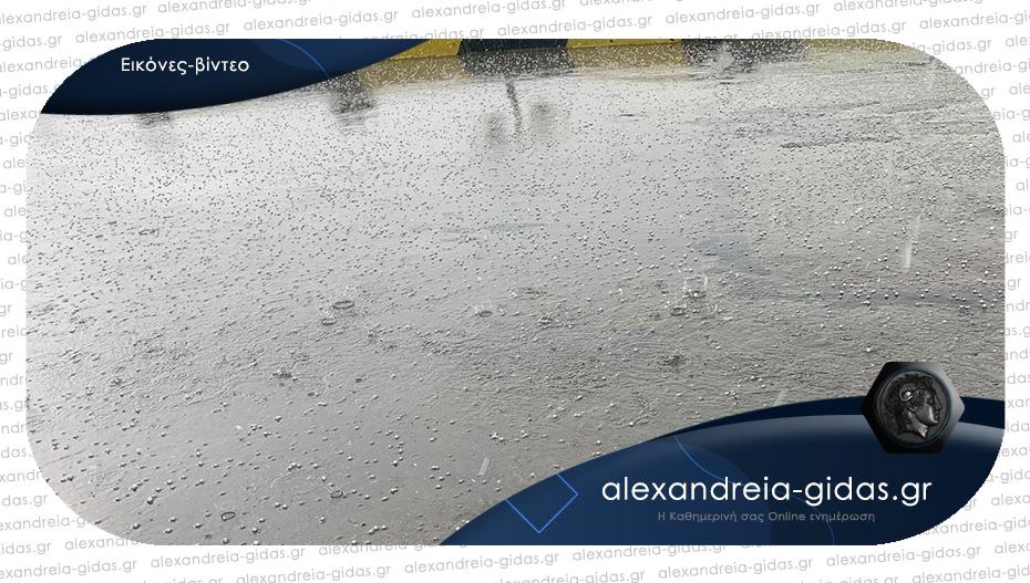 Έκτακτο: Χαλάζι έπληξε περιοχές του δήμου Αλεξάνδρειας