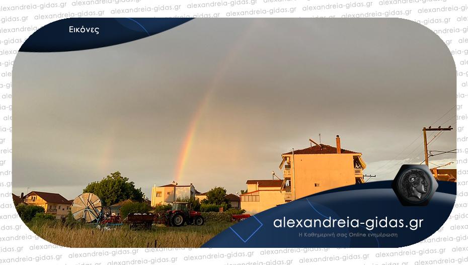 Της φύσης τα ωραία: Πανέμορφο ουράνιο τόξο πάνω από την Αλεξάνδρεια!