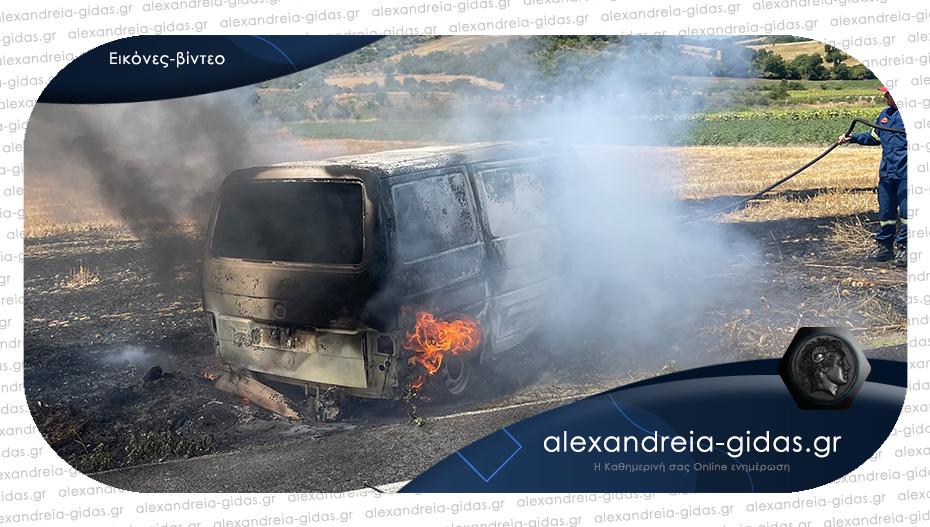 Κάηκε ολοσχερώς αυτοκίνητο στην Κυψέλη του δήμου Αλεξάνδρειας