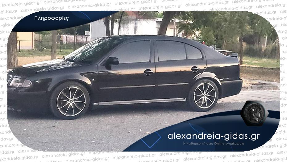 Έκλεψαν αυτοκίνητο μάρκας Skoda στην Αλεξάνδρεια – βοηθήστε!