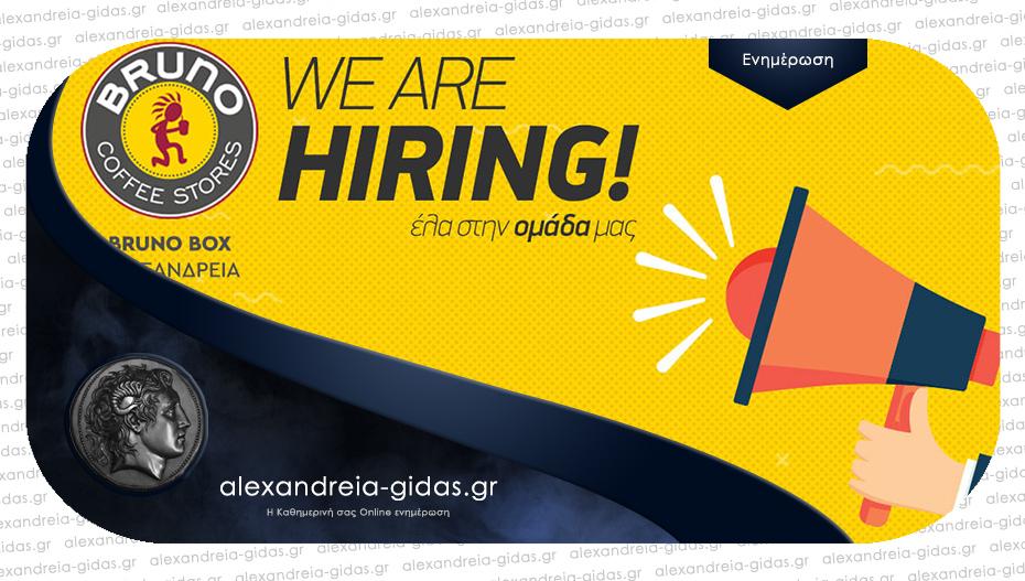 Ζητείται άτομο για εργασία στο Bruno Box στην Αλεξάνδρεια