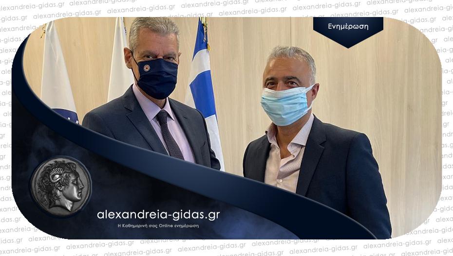 Συνάντηση Τσαβδαρίδη με τον υφυπουργό Κλιματικής Κρίσης και Πολιτικής Προστασίας