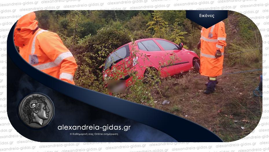 Τροχαίο ατύχημα στην Ημαθία με εκτροπή αυτοκινήτου