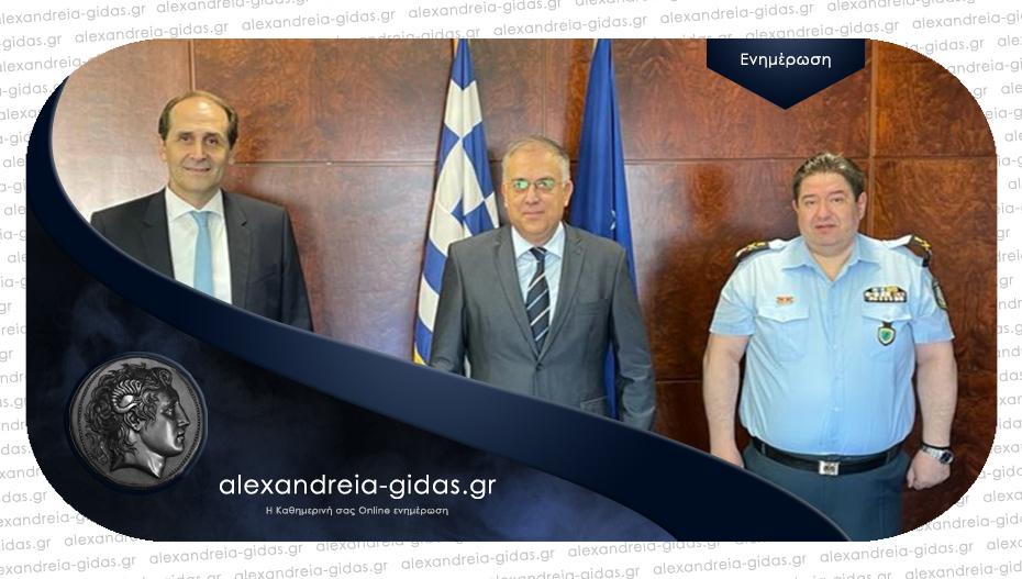Συνάντηση Βεσυρόπουλου – Θεοδωρικάκου – Καραμαλάκη για ίδρυση τμήματος Τροχαίας Αυτοκινητοδρόμων Ημαθίας